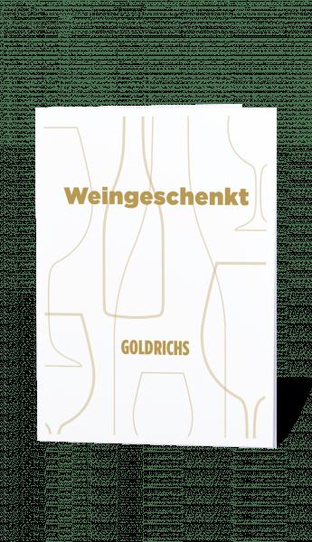 Goldrichs Wein Gutschein – Motiv Gold – zum Ausdrucken