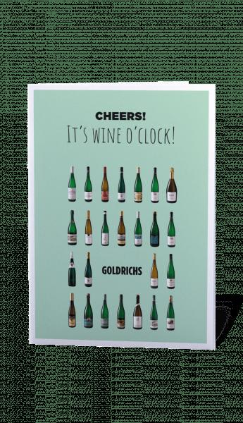 Goldrichs Wein Gutschein – Motiv Wine Time – zum Ausdrucken